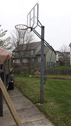 Basketball Goal Removal Indianapolis, basketball hoop hauling, basketball hoop disposal, basketball goal hauling, hauling, junk removal, trash removal, Carmel, Fishers, Zionsville, Westfield, Geist, Brownsburg, Avon, Plainfield, Mooresville, Camby, best