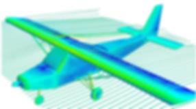 вычисление локальных и интегральных нагрузок на элементы конструкции самолета