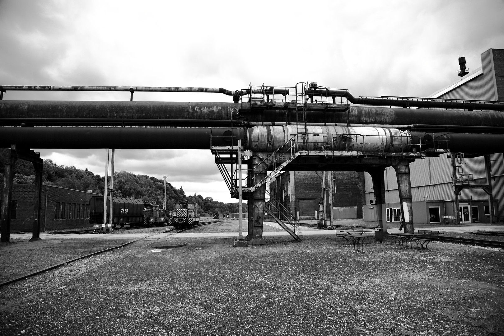 20070909 Pipes and trains.JPG