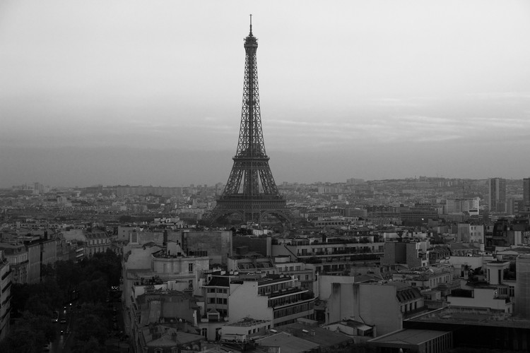 Paris Eiffel Tower B&W 2016.JPG