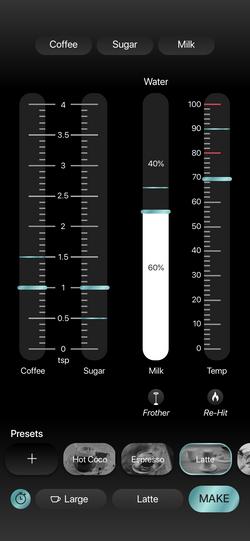 Latte Preset Changes