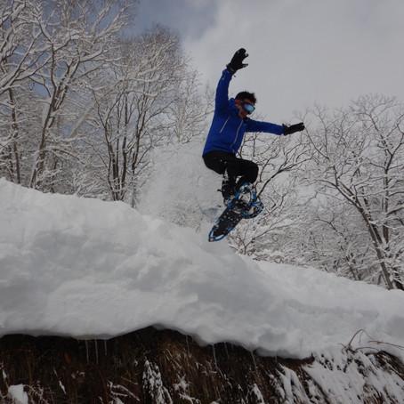 深雪を楽しむ