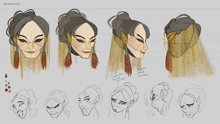Sha Human Turnaround & Expression Sheets
