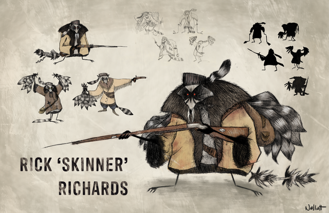 Rick Skinner Richards Character Design