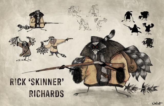 Rick Skinner Richards Character Design