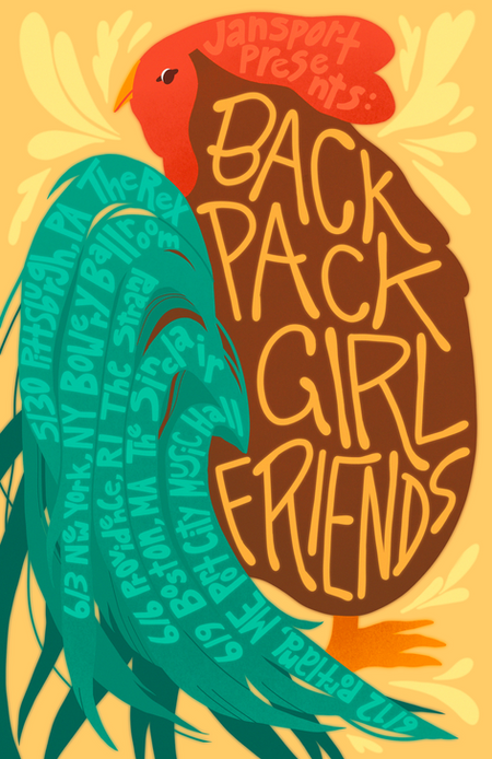 Backpack Girlfriends Tour Poster