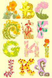 Desert Blooms Alphabet (Partial)