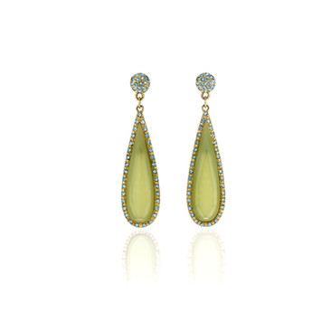 Green stone earrings.