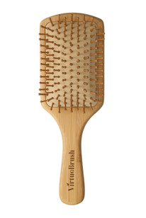 Front view of the bamboo hair brush from VirtueBrush Ireland.
