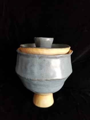 Blue Lidded Jar