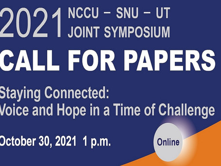 Call for Papers - 2021 NCCU-SNU-UT Joint Symposium