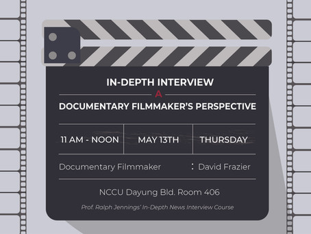 David Frazier to talk from the perspective of a documentary filmmaker