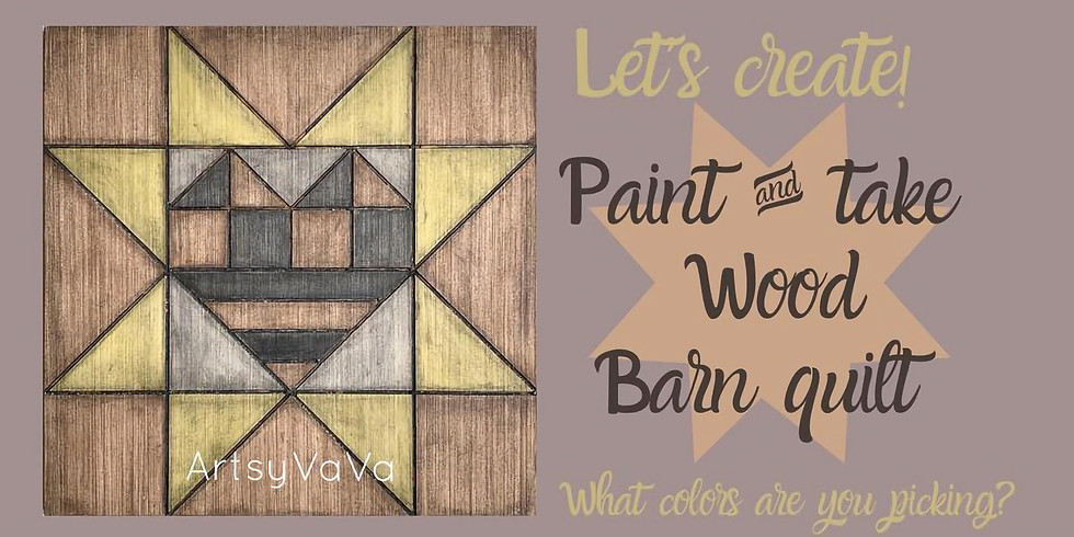 Customize a Painted Wood Quilt! Supplies Included!