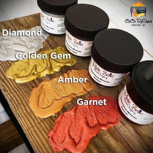 Dixie Belle GEMSTONE MOUSSE -Diamond, Golden Gem, Amber, Garnet-METALLIC PAINT