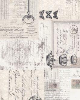 EPHEMERA COLLAGE -Roycycled Decoupage Paper- Victorian Era French Print