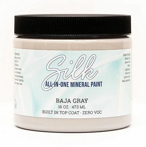 BAJA GRAY -SILK ALL IN ONE Mineral Paint- DIXIE BELLE- Water/Stain Resistant