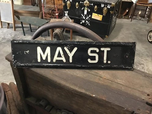 May Street Porcelain Sign