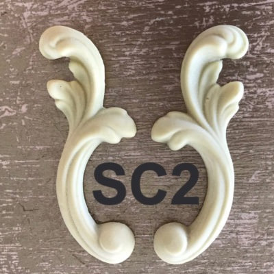(15 STYLES) CARVED SCROLLS (2 ea) Victorian Furniture Moldings- EFEX Molding