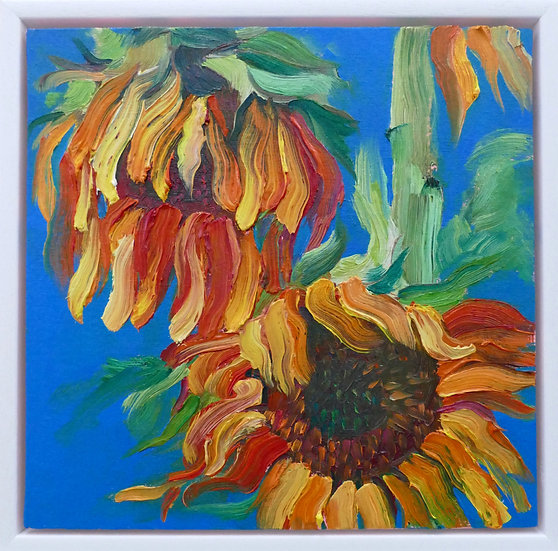WILTING SUNFLOWERS I