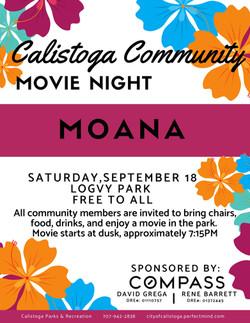 Calistoga Community Movie Night: Moana
