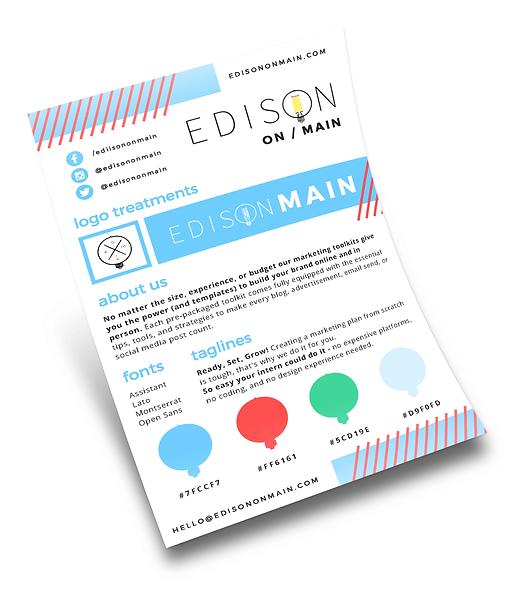 Edison on Main brand guidelines