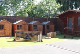 The outdoor play area