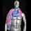 Thumbnail: Faux Fur Light Up Boa - Blue Pink Purple Fur White LED lights