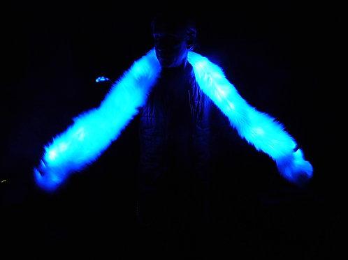 Faux Fur Light Up Boa - Light Up Scarf - Multi Color LEDs