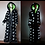 Thumbnail: Ladies LED  Faux Fur Coat Black Light Up Stars and Spikes