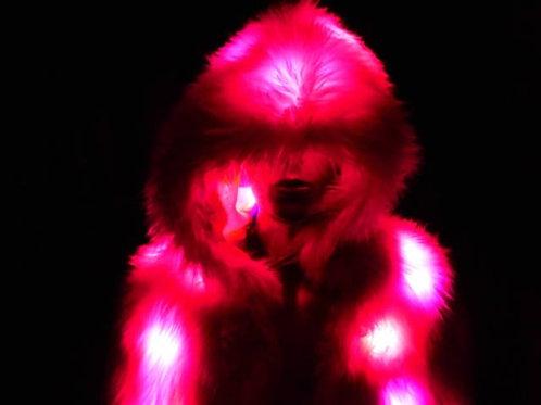 LED Coat - Pink Faux Fur Light Up Jacket