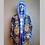 Thumbnail: LED Faux Fur Light Up Coat Mandalas Skulls and Marijuana - SMALL