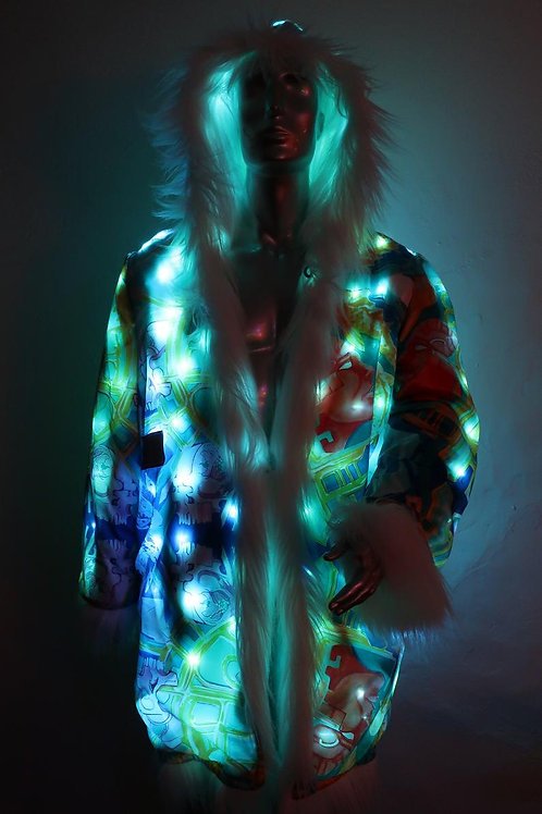 Custom Light up Faux Fur Coat - Choice of Fur and FreeRolando Interior