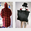 Thumbnail: Reversible Burning Fur Coat - Red and Black with built in backpack
