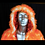Thumbnail: Faux Fur Coat Orange Light Up Coat -  With Backpack Option