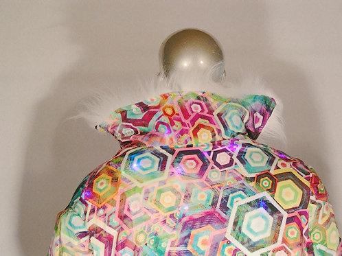 Light Up Coat - geometric / psychedelic interior Limited Edition LED Jacket