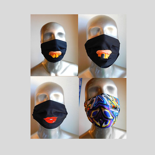 Dust Mask Cover - Face Mask Cover - Funny Face Mask with Teeth