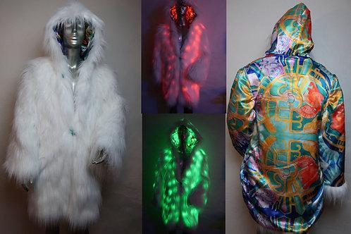 LUC and artist FreeRolando #3  Light Up Rur Coat RGB LEDs