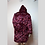 Thumbnail: Light Up Coat - Burgundy Bubble fur with a psychedelic satin interior OOAK