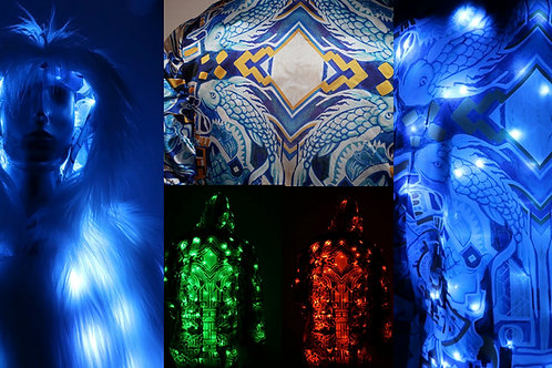 Light up Fur Coat -  artist Interior FreeRolando #2 RGB LEDs