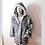 Thumbnail: Faux Fur Light Up Coat - CATS - Silver fur 200 Multi Color LEDs -7 modes