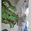 Thumbnail: White Lion Tiger Light Up Coat Graffiti print satin interior