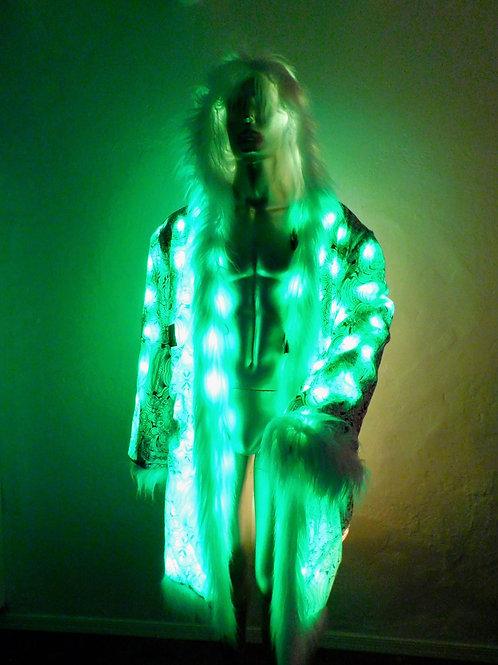RGB Light Up Fur Coat - Artist Interior - FreeRolando Skull Mandala