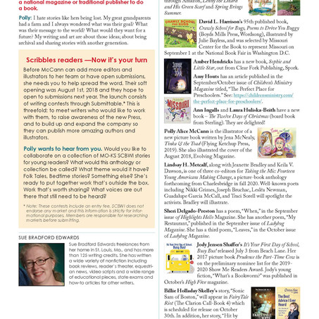 Reprint of our Interview with KS/ MO Scribbles Newsletter for SCBWI