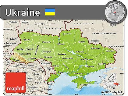 Karte von der Ukraine, auf der die Einsatzstelle markiert ist.