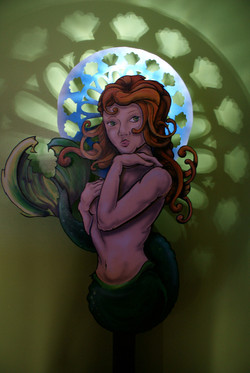 Nouveau Mermaid with Lights