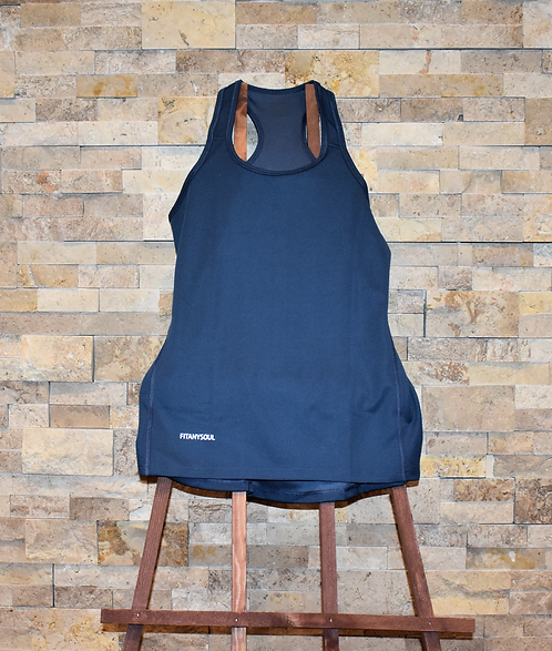 FIT-SENSE Ash Blue Tank Top