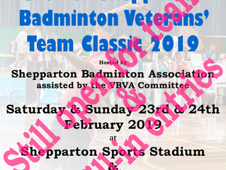 Greater Shepparton Badminton Veterans' Team Classic 2019