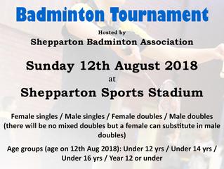 2018 NE Victoria Junior Badminton Tournament