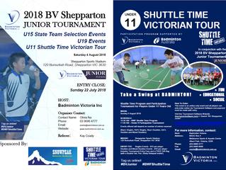 Badminton Victoria Shepparton Junior Tournament 2018