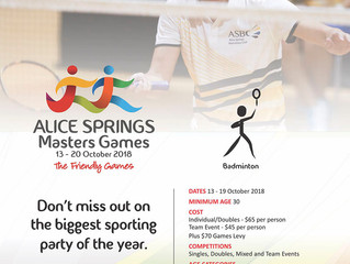 2018 Alice Springs Masters Games